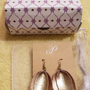 Earrings- copper/gold